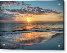 Acrylic Print featuring the photograph Mirror At Sunrise by Debra and Dave Vanderlaan