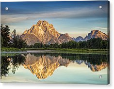 Mirror Image At Oxbow Bend Acrylic Print by Andrew Soundarajan