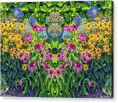 Flowers Pareidolia Acrylic Print