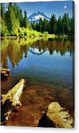 Mirror Lake - Mount Hood Acrylic Print