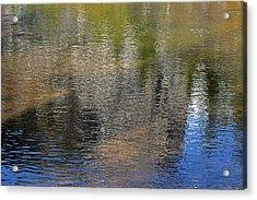 Mirror Lake Reflections 04 13 Acrylic Print by Walter Fahmy