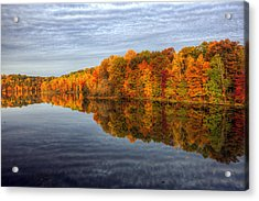 Mirror Mirror On The Fall Acrylic Print by Edward Kreis