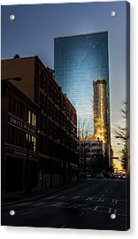 Mirror Reflection Of Peachtree Plaza Acrylic Print