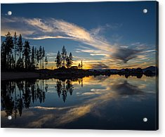 Mirror Sunset Acrylic Print