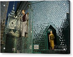 Mirror Temple In Burma Courtyard View Acrylic Print