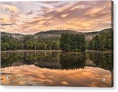 Bass Lake Sunrise - Moses Cone Blue Ridge Parkway Acrylic Print