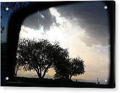 Mirrored Sunset Acrylic Print by KatagramStudios Photography
