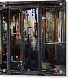 Mirroring The Elevatorshaft Acrylic Print by Arie Van Garderen