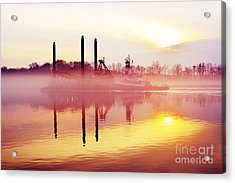 Mirrors - Delaware River Series Acrylic Print by Robyn King