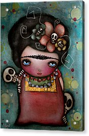 Mis Amigos Acrylic Print by  Abril Andrade Griffith