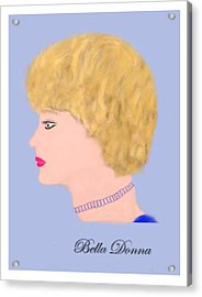 Miss Bella Donna Acrylic Print by Jerry White