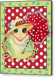Miss Belle Frog Acrylic Print by Kay Robinson