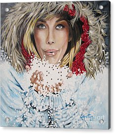 Remarkable Russian Girl.            From The Attitude Girls  Acrylic Print