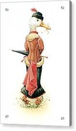 Miss Duck Acrylic Print by Kestutis Kasparavicius