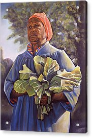 Miss Emma's Collard Greens Acrylic Print by Curtis James