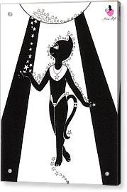 Miss Fifi Cosmic Kitten Acrylic Print by Silvia  Duran
