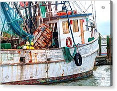 Miss Hale Shrimp Boat - Side Acrylic Print by Scott Hansen