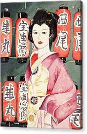 Miss Hanamaru At Osaka Festival Acrylic Print by Judy Swerlick