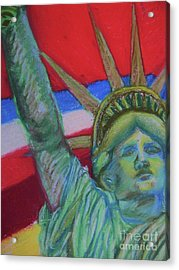 Miss Liberty Acrylic Print by Emily Michaud