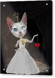Miss Kitty Acrylic Print by Juli Scalzi