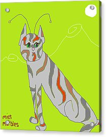 Miss Marbles My Favorite Martian Acrylic Print by Anita Dale Livaditis