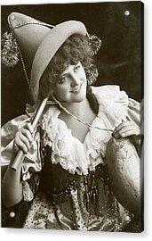 Miss Marie Studholme As Lady Madcap 1905 Acrylic Print by Sarah Vernon