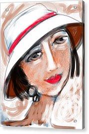 Miss Mary Acrylic Print by Elaine Lanoue