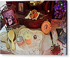 Miss Mary's Table. Acrylic Print by Joan Reese