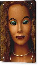 Miss Mascara Acrylic Print by Jez C Self