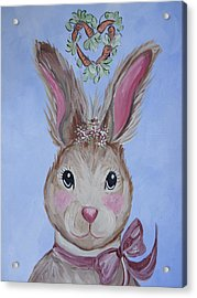 Miss Pearl Acrylic Print by Leslie Manley