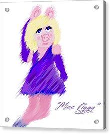 Miss Piggy Acrylic Print by Susan Garren