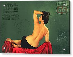 Miss September Circa 1952 Acrylic Print by Cinema Photography