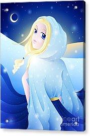Miss Winter-night Acrylic Print by Sandra Hoefer