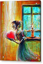 Acrylic Print featuring the painting Missing You by Heather Calderon