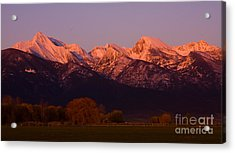 Mission Alpenglow Acrylic Print