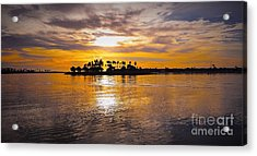 Mission Bay Purple Sunset By Jasna Gopic Acrylic Print