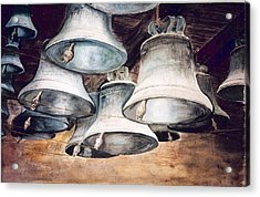 Mission Bells Acrylic Print by Dwight Williams