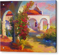 Mission Capistrano Acrylic Print by Maryanne  Jacobsen