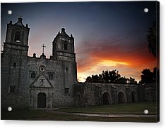 Mission Concepcion At Sunrise Acrylic Print by Melany Sarafis