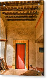 Mission Door Acrylic Print by Steven Ainsworth