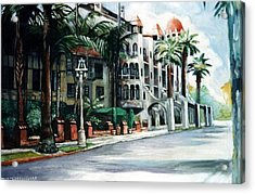 Acrylic Print featuring the painting Mission Inn - Riverside- California by Paul Weerasekera