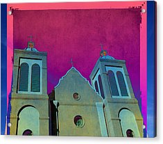 Mission New Mexico Var.2 Acrylic Print by Susanne Van Hulst