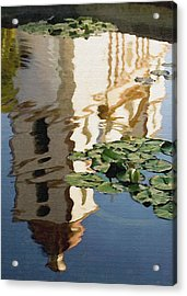 Mission Reflection Acrylic Print by Sharon Foster