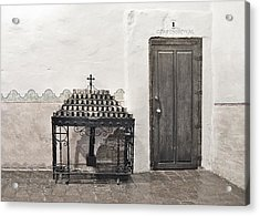 Mission San Diego - Confessional Door Acrylic Print by Christine Till