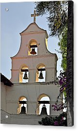 Acrylic Print featuring the photograph Mission San Diego De Alcala Bell Tower by Christine Till