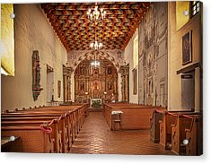Acrylic Print featuring the photograph Mission San Francisco De Asis Interior by Susan Rissi Tregoning