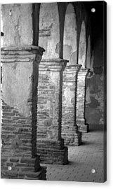 Mission San Juan Capistrano Arches Acrylic Print by Brad Scott