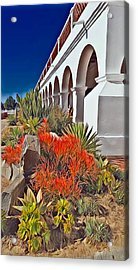 Mission San Luis Rey Garden Acrylic Print