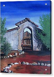 Acrylic Print featuring the painting Rustic Charm by Mary Ellen Frazee