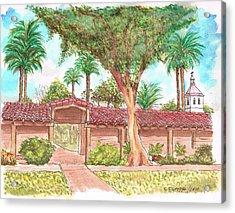 Mission Santa Clara De Asis, California Acrylic Print